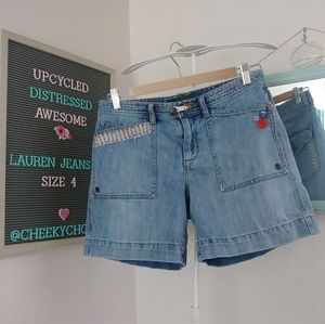 Ralph Lauren vintage 90s mom shorts upcycled jeans